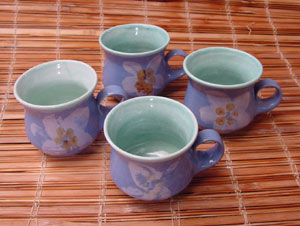 teacup, teapot, pottery, gift